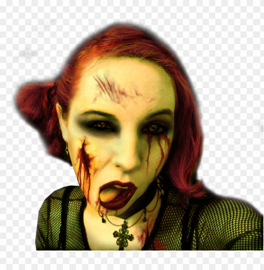 free PNG zombie girl - zombie girl art PNG image with transparent background PNG images transparent