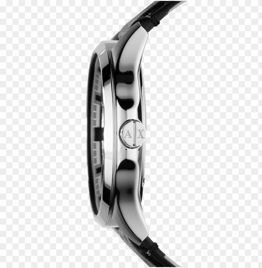 free PNG zoom - armani exchange ax2101 men's date leather strap watch, PNG image with transparent background PNG images transparent