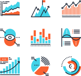 measurement and reporting - digital marketing icon vector ...